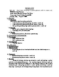 Giáo án Sinh học 10 - Tiết 24: Quá trình tổng