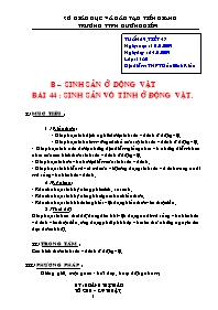 Giáo án Sinh học 11 - Tiết 47, Bài 44: Sinh s