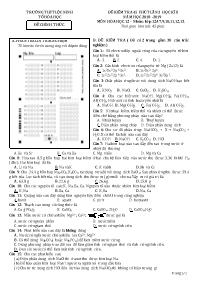 Đề kiểm tra 45 phút lần 3 kì II - Môn Hóa lớp