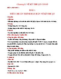 Giáo án Công nghệ 11 - Tiết 1 đến tiết 17