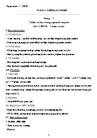Giáo án Công nghệ 11 - Tiết 19 đến tiết 52