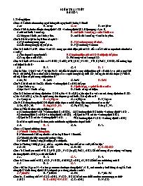 Kiểm tra 1 tiết - Bài số 3 - Môn Hóa 12