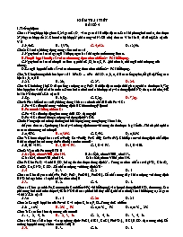 Kiểm tra 1 tiết - Bài số 4 - Môn Hóa 12