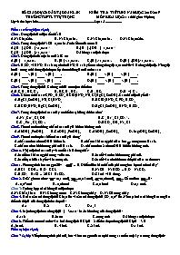 Kiểm tra 1 tiết kì I - Môn: Hóa học 11