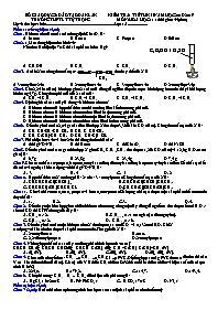 Kiểm tra 1 tiết kì II - Môn: Hóa học 11