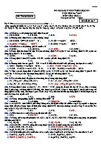 Một số đề thi học kì I môn Hóa học 11